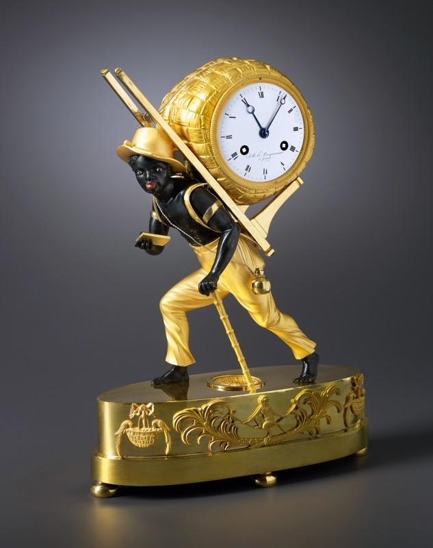"""An Empire Pendule """"Le Portefaix"""" by J.B.H. Tricqueneaux, Paris, date circa 1800-05"""