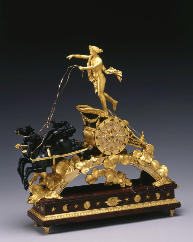 An Empire chariot clock, attributed to Pierre-Philippe Thomire , Paris, date circa 1805-10