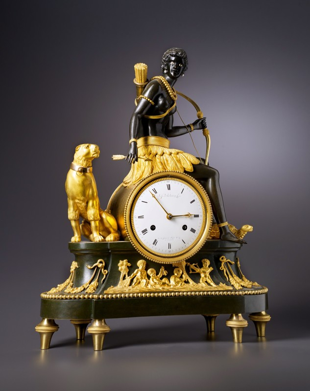 An Empire 'Pendule l'Afrique' by Jean-Simon Deverberie, Paris, date circa 1812-1815