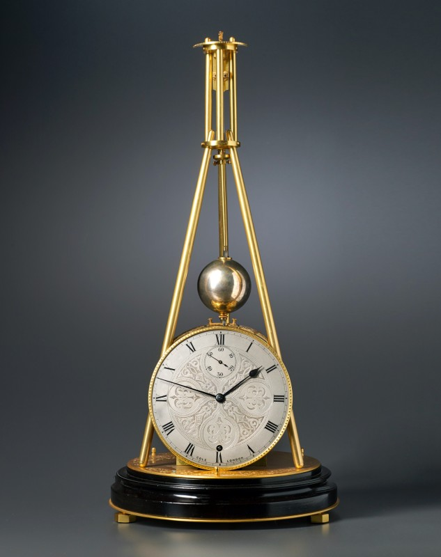 A Victorian tripod clock of one month duration made by Thomas Cole, London, date circa 1850-55