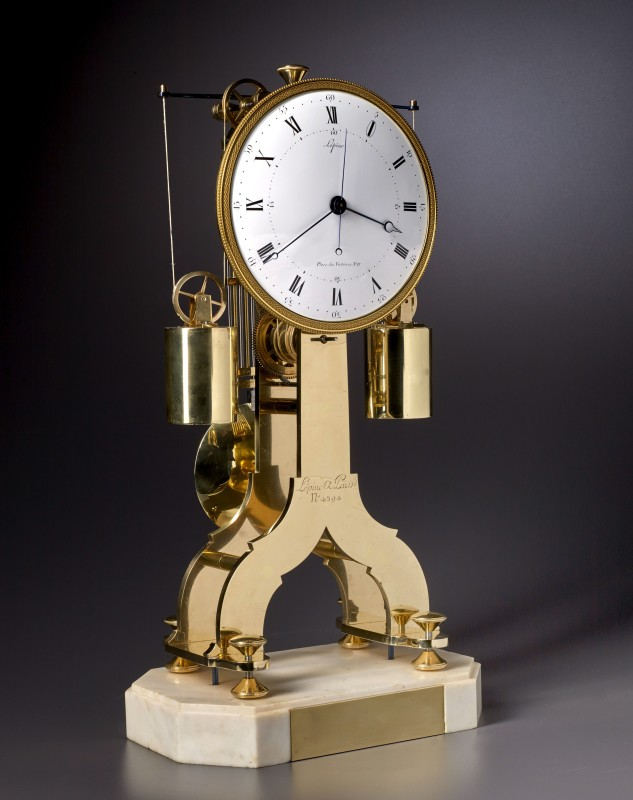 A Directoire weight driven skeletonised table regulator clock of fourteen day duration by Lépine, Paris, date circa 1800
