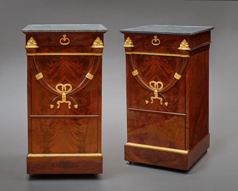A pair of Directoire somnos attributed to Jacob Frérès, Paris, date circa 1800