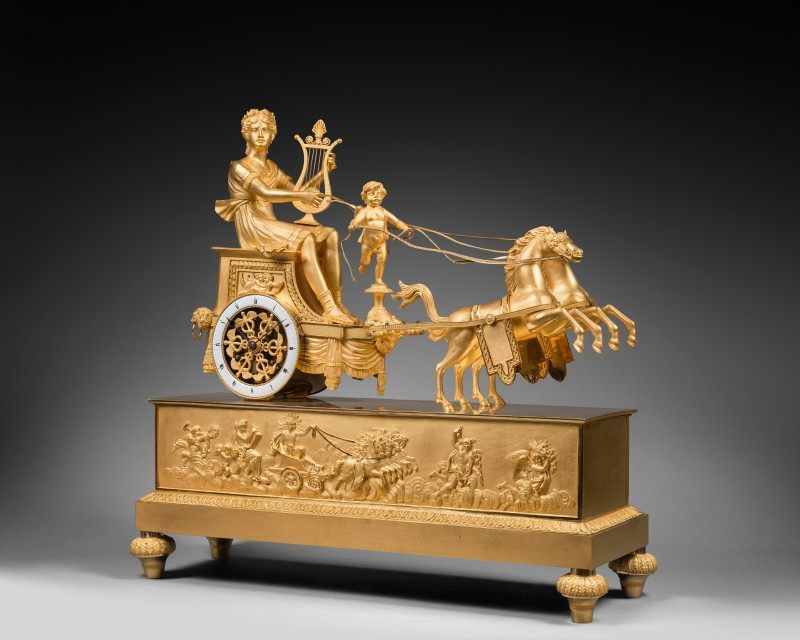 A Directoire chariot clock of eight day duration attributed to Jean-Simon Deverberie, Paris, date circa 1800