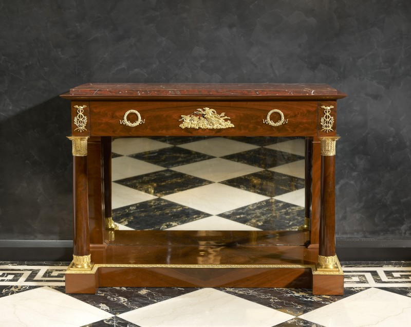 An Empire console-secrétaire attributed to Jacob-Desmalter, Paris, date circa 1805-10