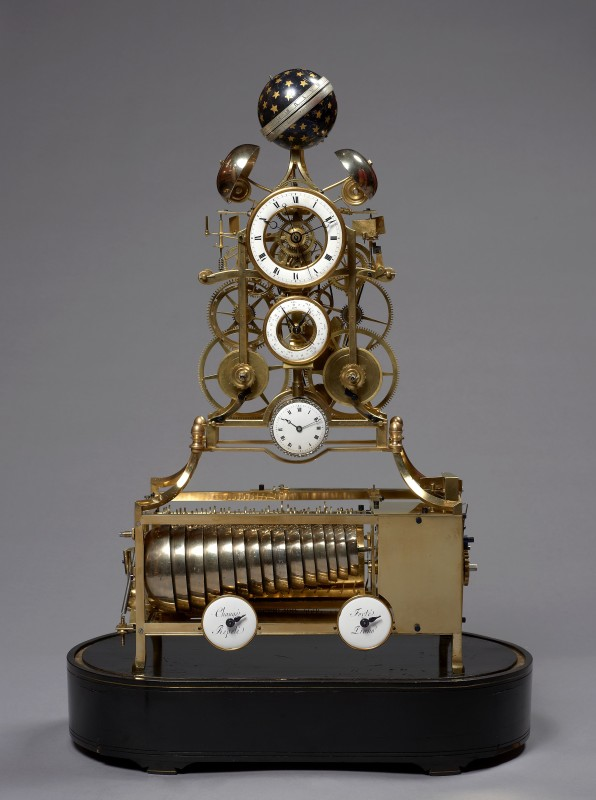 A musical and striking skeleton clock with remontoire of eight day duration attributed to J. Van Hoof et Fils, Most probably Anvers (Antwerp), date circa 1790
