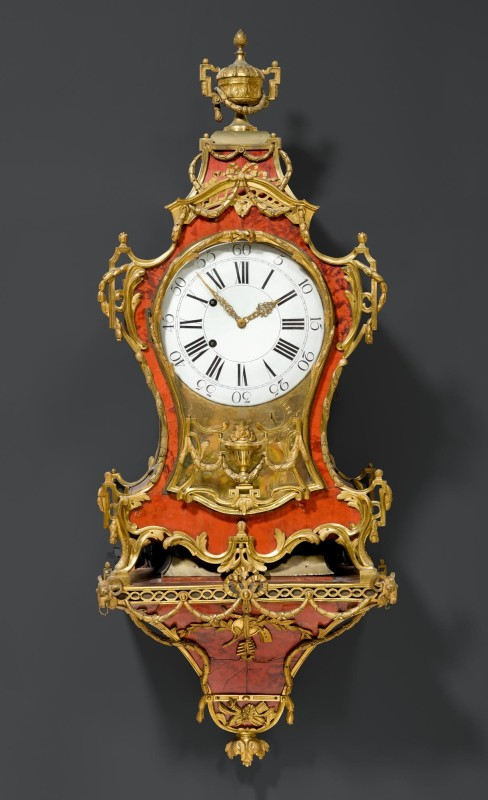 A 18th Century Neuchâel Swiss eight tune musical pipe organ and quarter striking wall clock with bracket by Josue Robert, La Chaux de Fond, date circa 1770