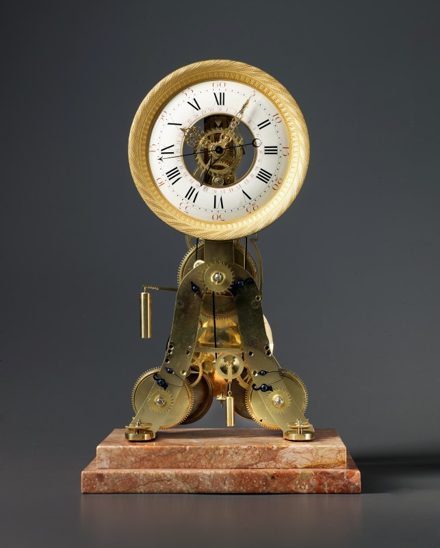 A Louis XVI skeletonised table regulator of two weeks duration, Paris, date circa 1780