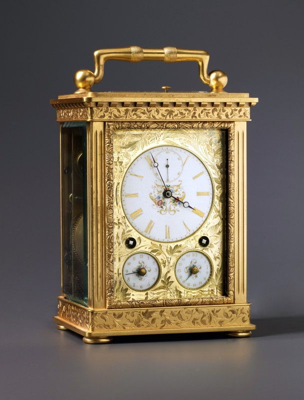 Peter Girard, A Swiss Grande Sonnerie carriage clock, La Chaux-de-Fonds, date circa 1850
