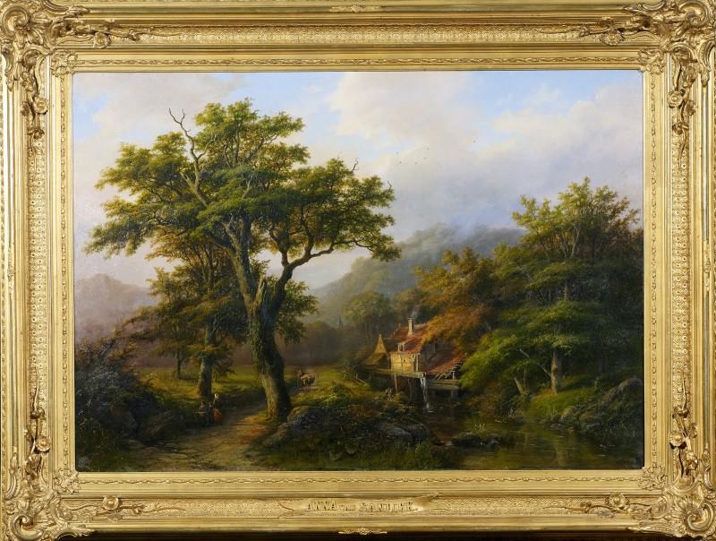 "Anna van Sandick, ""Romantic landscape"" by Anna van Sandick, 1868"