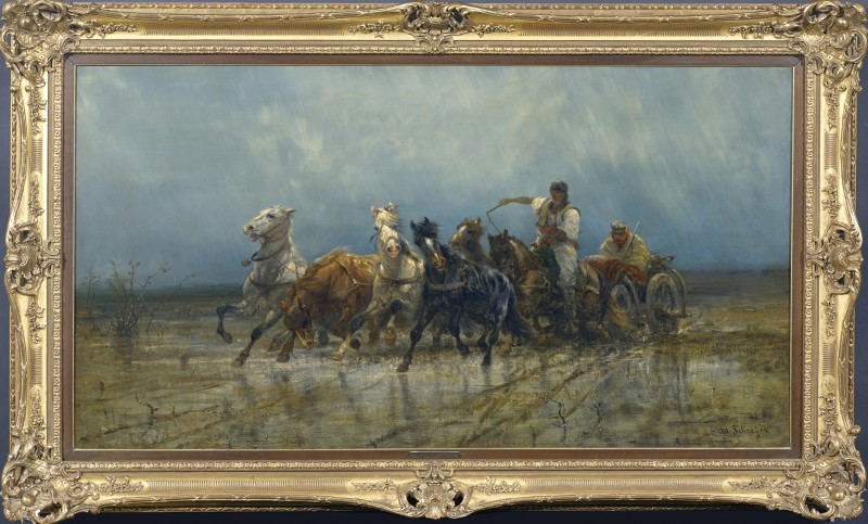 """Quadriga"" by Adolf Schreyer, date, circa 1880"