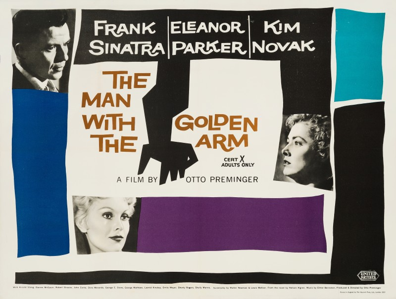 Saul Bass, The Man With The Golden Arm, 1956