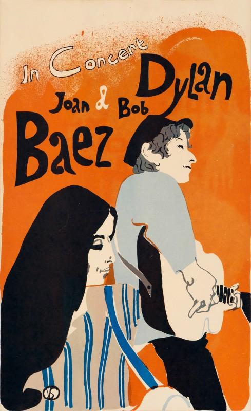 Eric Von Schmidt, Bob Dylan and Joan Baez, 1965