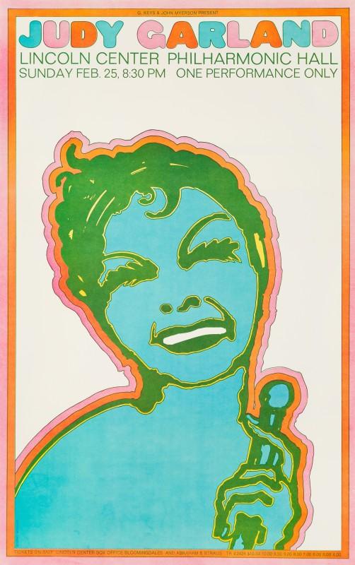 Seymour Chwast, Judy Garland, 1968