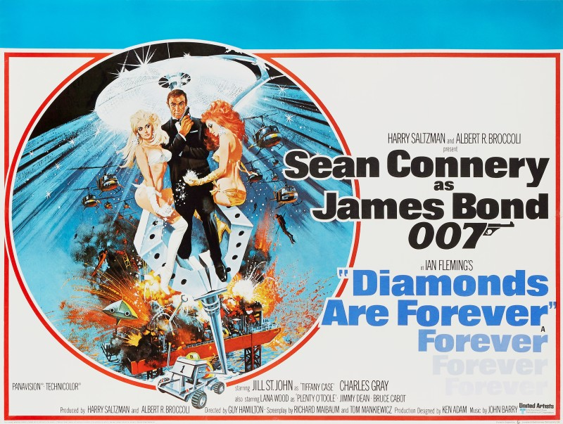 Robert McGinnis, Diamonds Are Forever, 1971