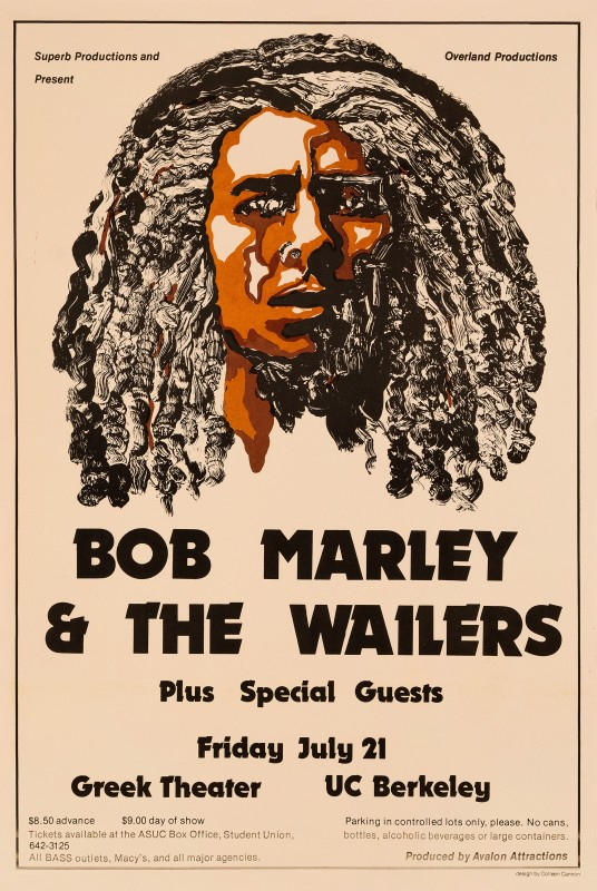 Colleen Cannon, Bob Marley & The Wailers, 1978
