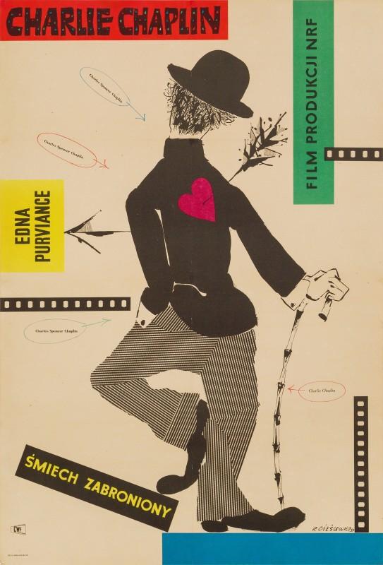 Roman Cieslewicz, The Charlie Chaplin Festival, 1957