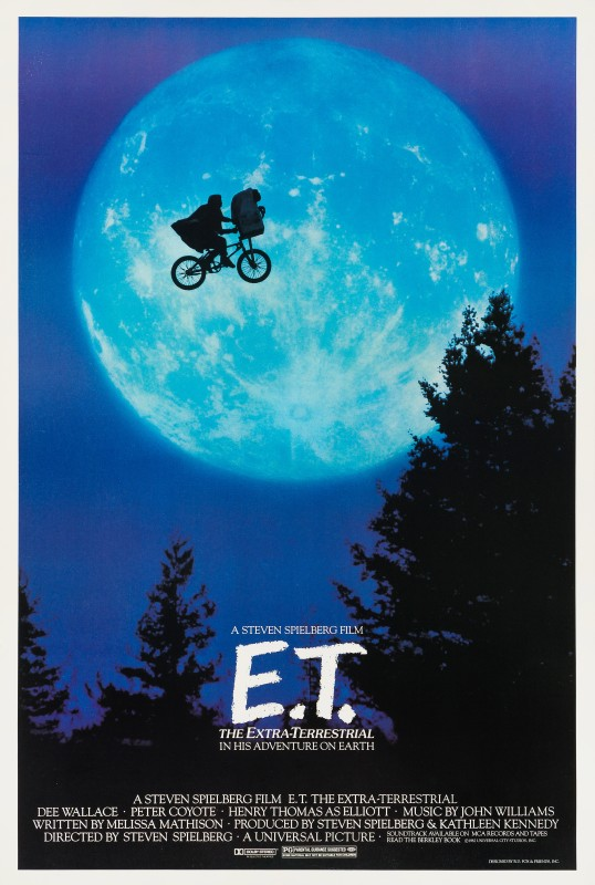 E.T. The Extra Terrestrial, 1982 US One Sheet Film Poster 40⅛ x 27 in. (102 x 68.5 cm.) Unfolded, backed on linen