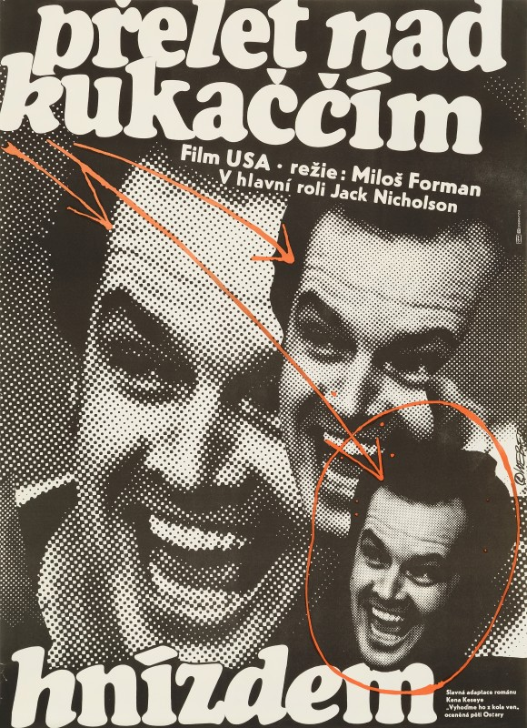 One Flew Over The Cuckoo's Nest, 1978 Jan Weber Czech A1 Film Poster 31½ x 22½ in. (80 x 57 cm.) Unfolded, not backed