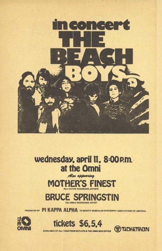 The Beach Boys and Bruce Springsteen, 1973