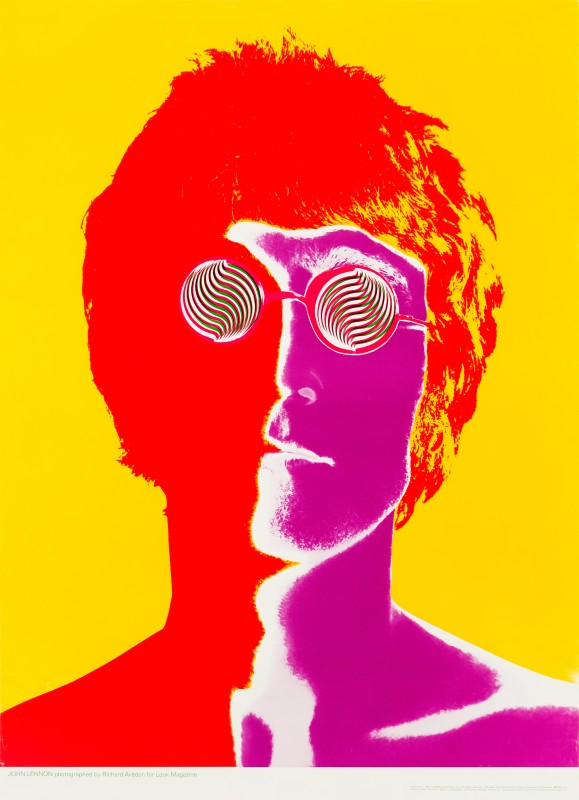 John Lennon, 1967 Richard Avedon US Promotional Poster 31 x 22½ in. (79 x 57 cm.) Unfolded, not backed Published by Cowles Education Corporation for Look Magazine, New York