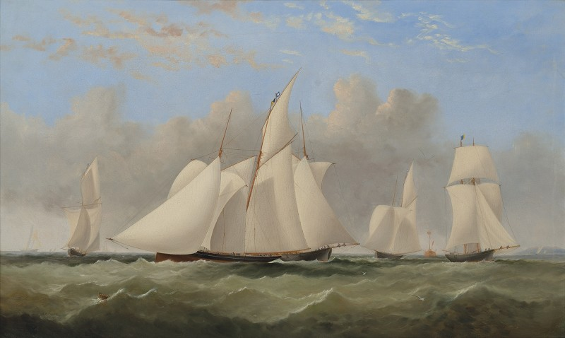 Pantomime ahead of the pack in the Round the Island Race of 1867