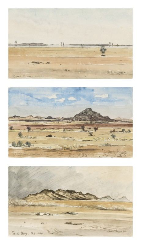 Sketches of the North African desert, 1943
