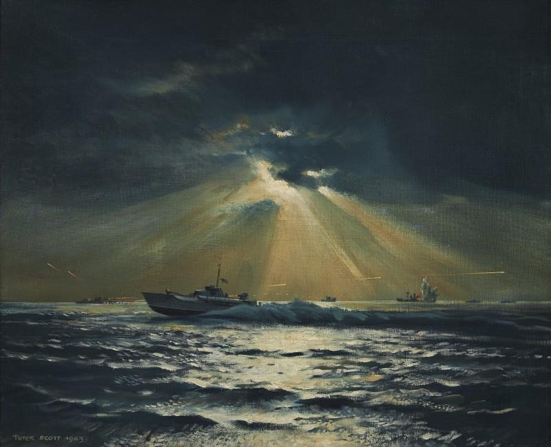 Sir Peter Markham Scott , Moonlight Attack, 1943