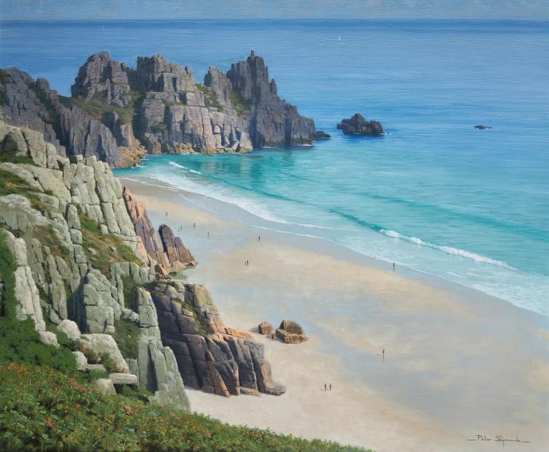 Peter Symonds , Pedn Vounder and Logan Rock, Porthcurno, Cornwall