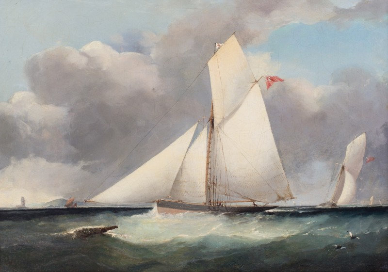 Royal Yacht Squadron cutters racing off shore