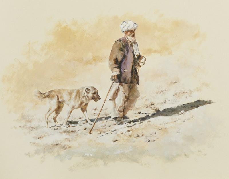 Mandy Shepherd , Afghan shepherd with dog
