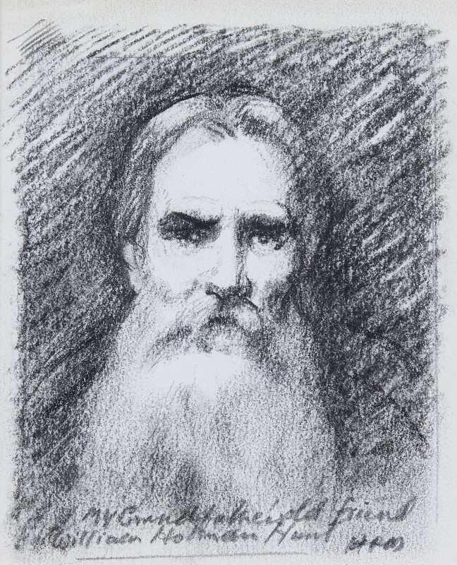 Raoul Millais , Sketch portrait of William Holman Hunt