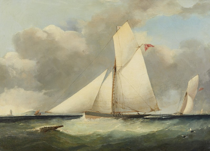 Arthur Wellington Fowles , Royal Yacht Squadron cutters racing off shore