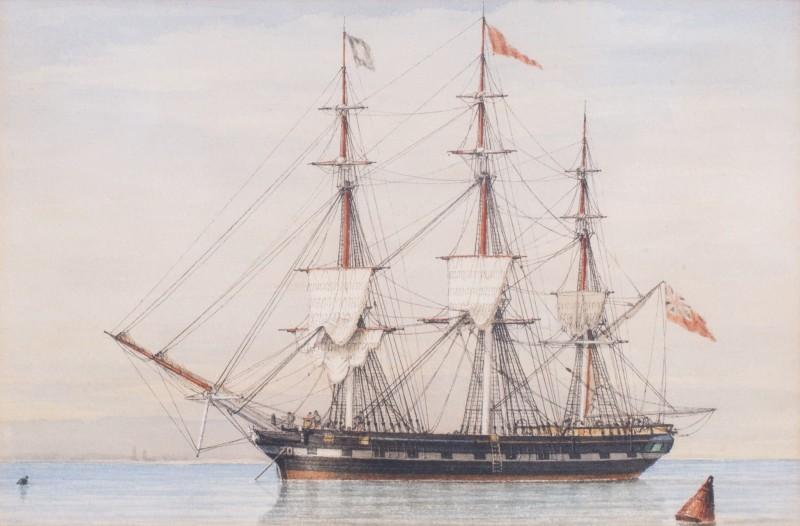 The merchantman Herculaneum in calm waters