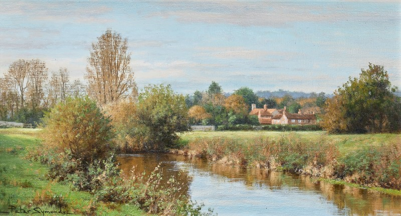 Peter Symonds , Early November, Lower Fittleworth from the Rother