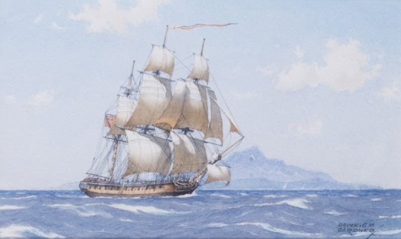 Nelson's Boreas off Nevis, Caribbean