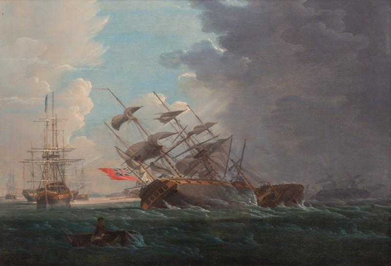 War ships in a hurricane