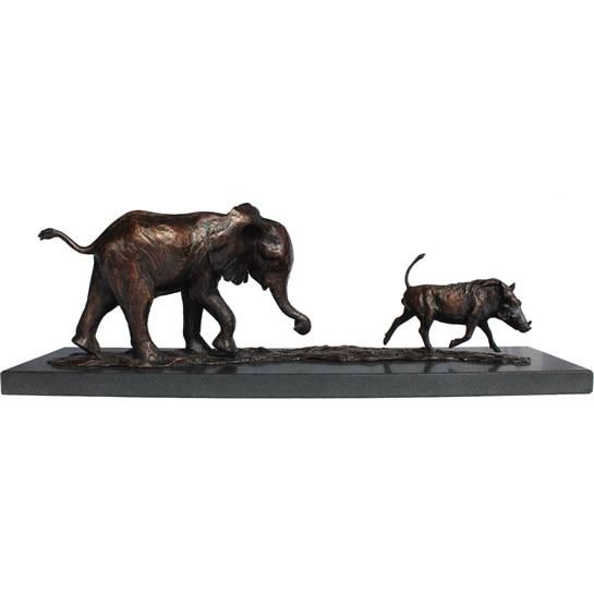 Elly and warthog