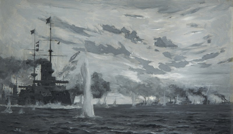 Norman Wilkinson , CBE, SMA, PRWS, RI, Battle of the Yellow Sea, 10th August 1904