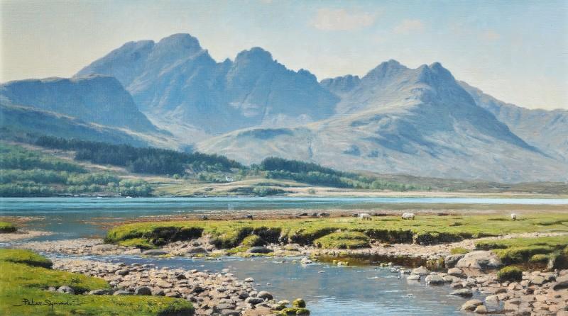 Peter Symonds , Bla Bheinn from Loch Slapin, Isle of Skye