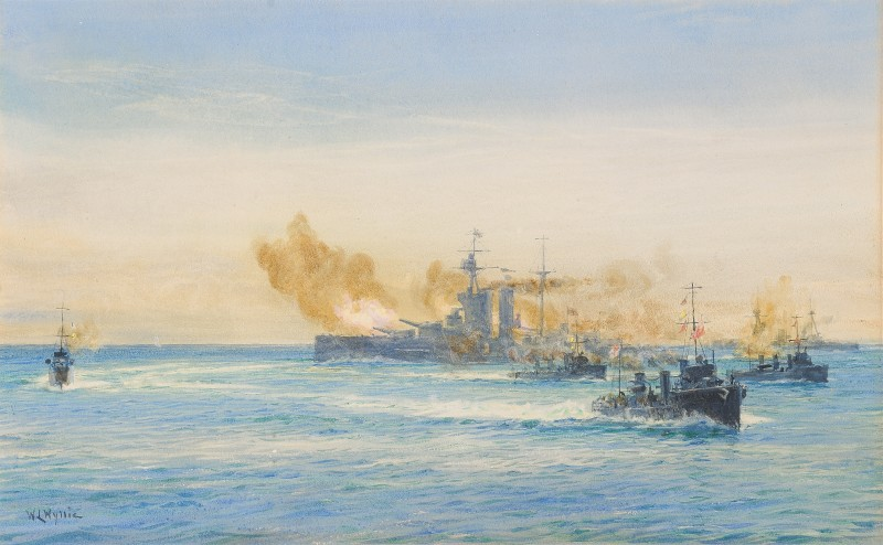 H.M.S. Queen Elizabeth and other Naval vessels at sea