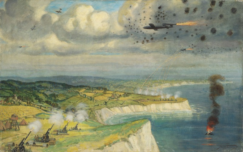 Frank Owen Salisbury , RI, ROI, Intercepting Doodlebugs over the south coast, 1944