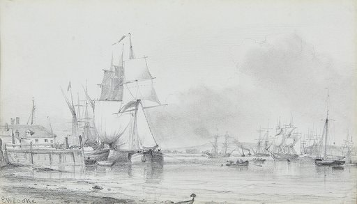Edward William Cooke , RA, Ships at rest