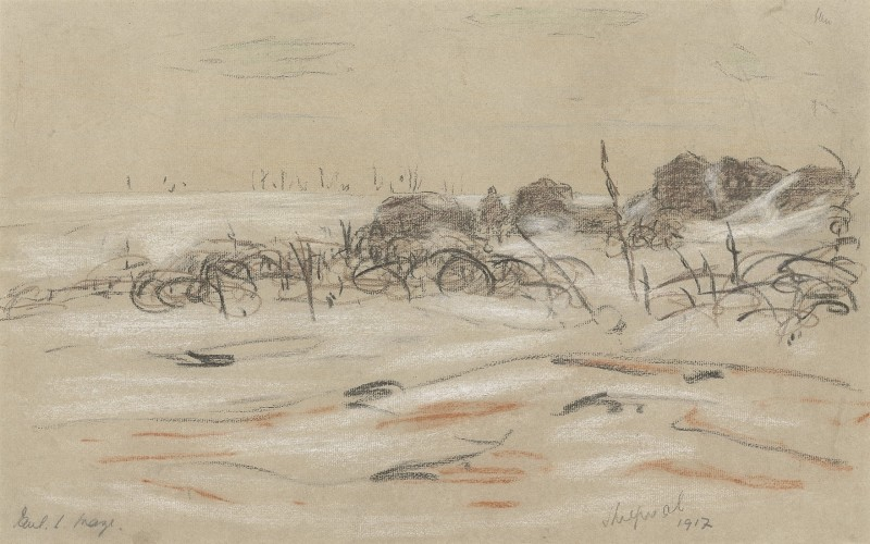 Paul Maze , Thiepval, Somme, 1917