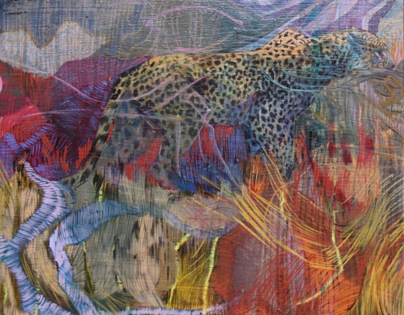 Leopard through the thicket