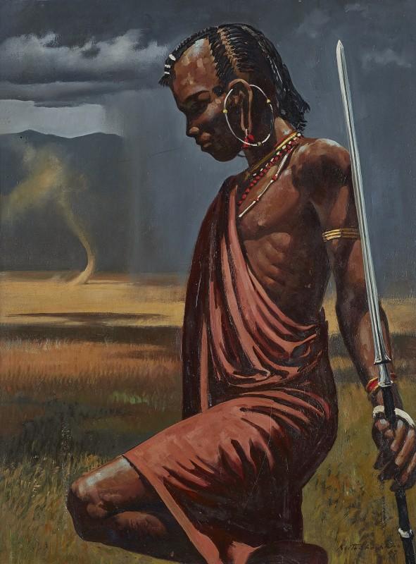 Keith Shackleton , Masai Tribesman at Ngorongoro Crater