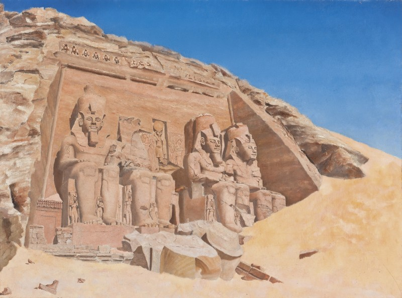 English School (19th century) , The Great Temple of Ramesses II at Abu Simbel