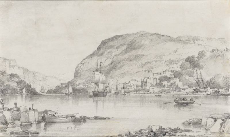 Edward William Cooke , RA, A quiet harbour