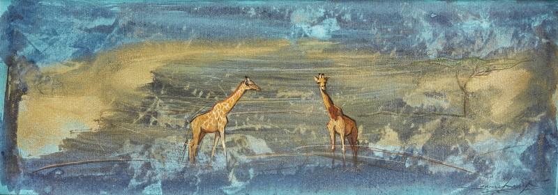 Namibian Giraffe at dusk