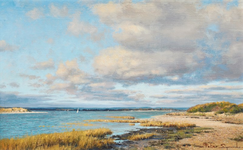 Peter Symonds , Autumn skies, East Head from West Wittering