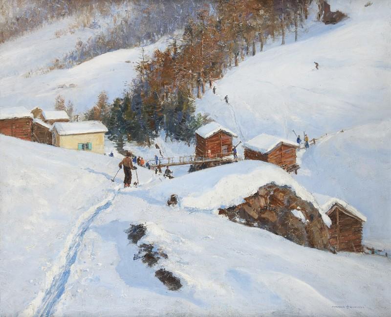 The end of the run, Zermatt, 1928
